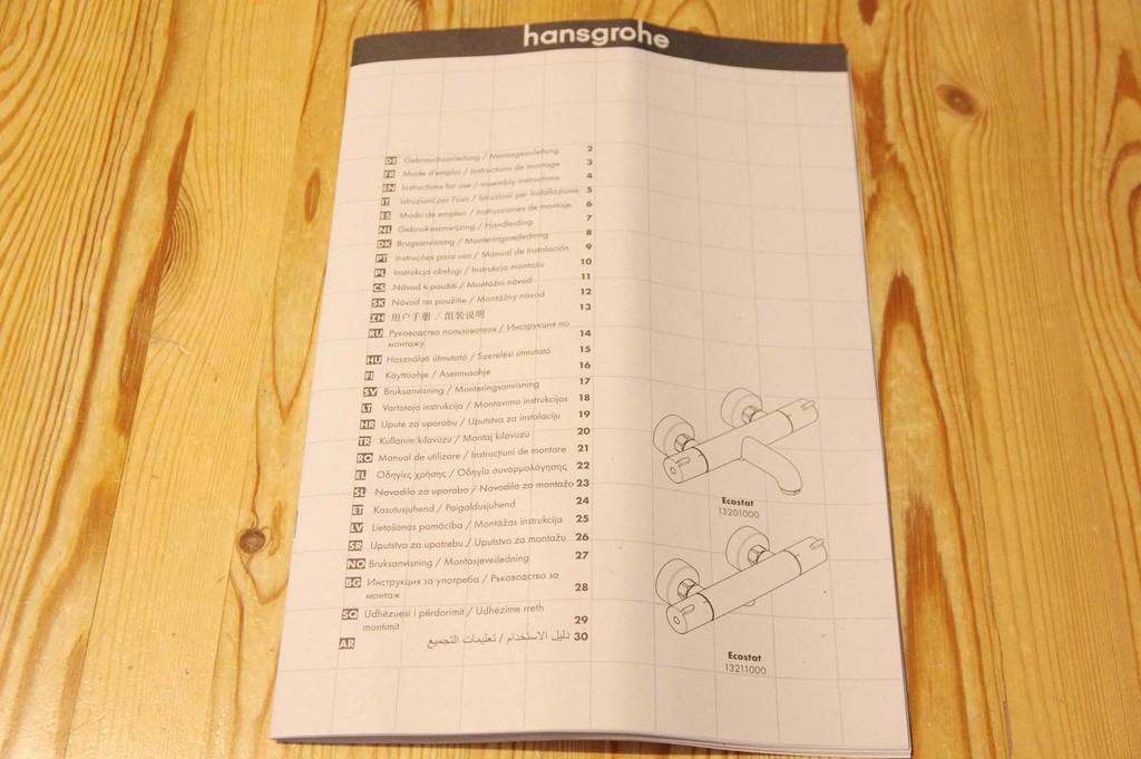 Notice d'utilisation - Hansgrohe Ecostat 1001 CL