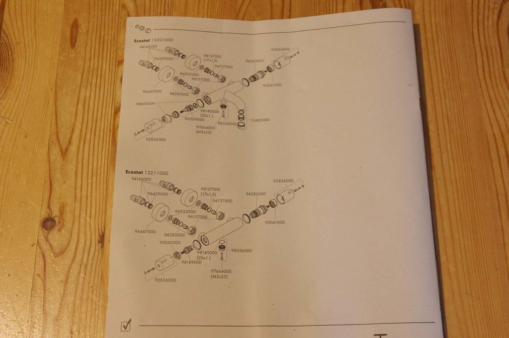 Schéma de montage (01) - Hansgrohe Ecostat 1001 CL