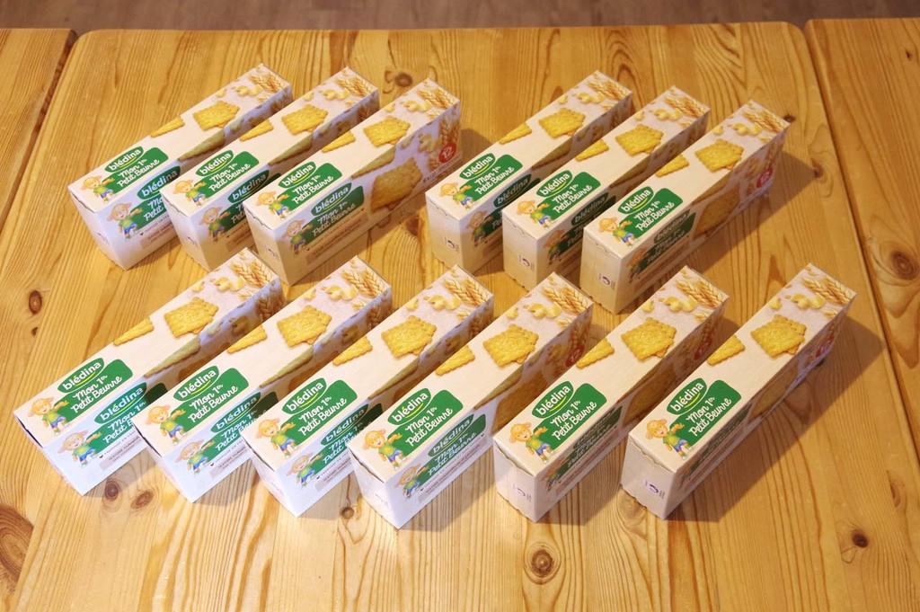 Blédina Mon 1er Petit Beurre - 12 paquets, cela en fait des goûters !