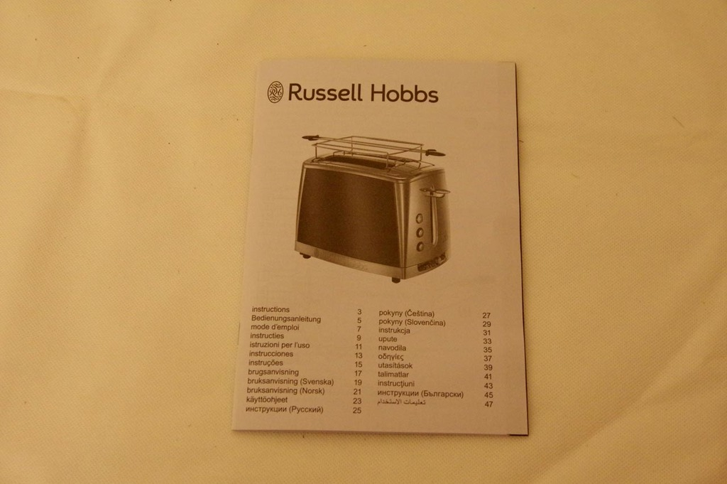 Grille pain Russell Hobbs Luna : notice
